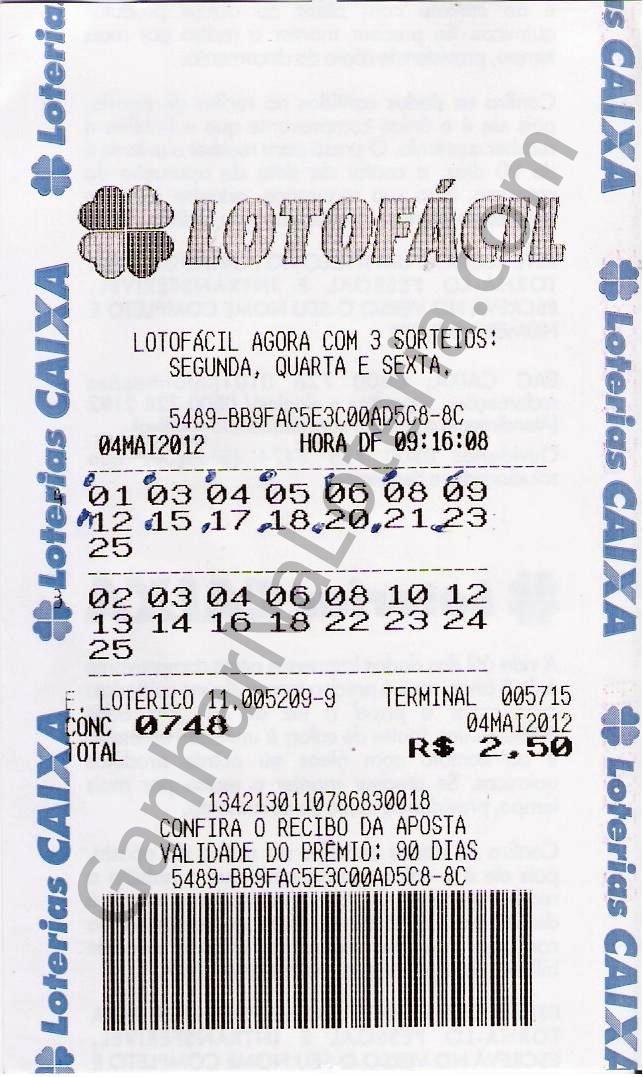 Bilhete Loteria
