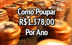 Como poupar R$1.378,00 facilmente em 52 semanas