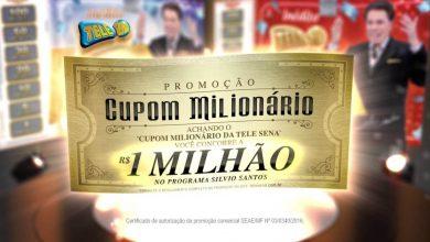 cupom milionário tele sena