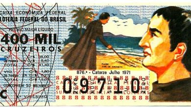 bilhete antigo da loteria
