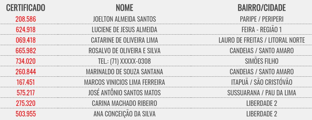 Bahia dá Sorte 09 09