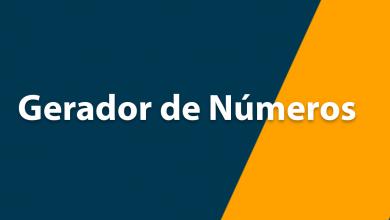 gerador de números para jogos da loteria