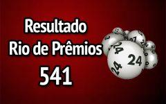 Resultado Rio de Prêmios 541 – Sorteio de 19/11/2017