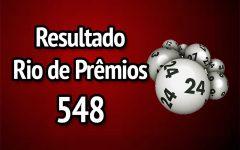 Resultado Rio de Prêmios 548 – Sorteio de 07/01/2018