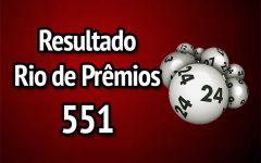 Resultado Rio de Prêmios 551 – Sorteio de 28/01/2018